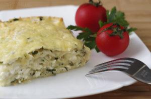 Ачма из лаваша с сыром, творогом и зеленым луком