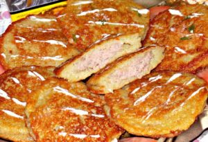 Белорусские драники с мясом
