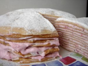 Блины с творогом «Блинный торт»