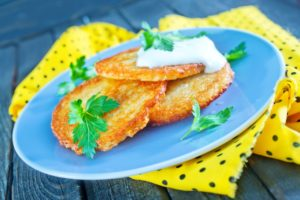 Рисовые драники с сыром