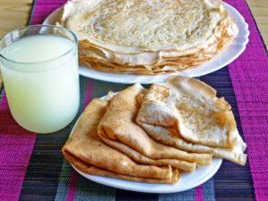 Тонкие блины - подготовка продуктов и посуды