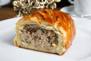 Кулебяка с мясом