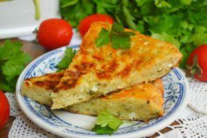 Ленивые хачапури с сыром и творогом