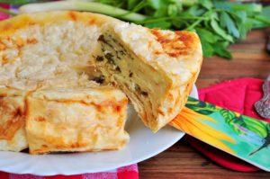 Пирог «Ленивая ачма», приготовленный на скорую руку в мультиварке