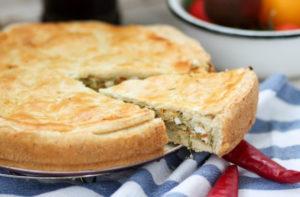 Пирог с капустой - подготовка продуктов