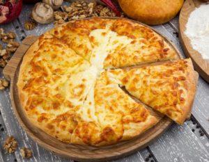 Хачапури по-мегрельски с творогом и сыром